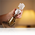 Retrofit existing lighting with CFLs in table lamps