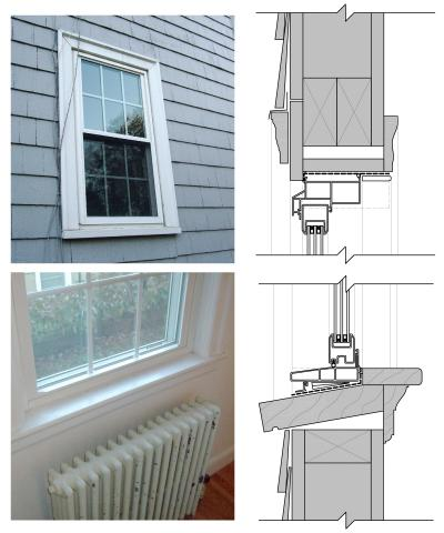 Insert replacement vinyl frame window