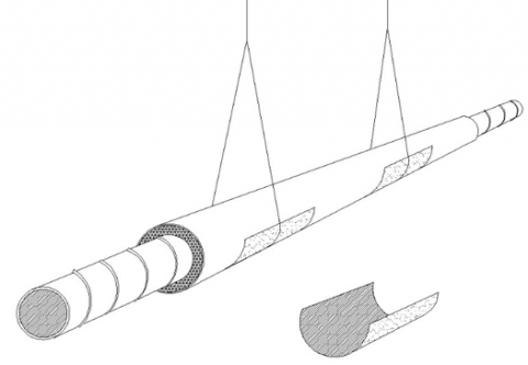 Right: If existing straps are narrower than 1.5 inches, add sheet metal saddles to keep the duct from sagging and pinching