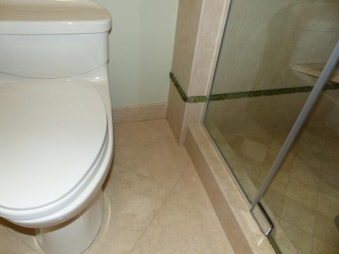 Select flooring appropriate for wet areas
