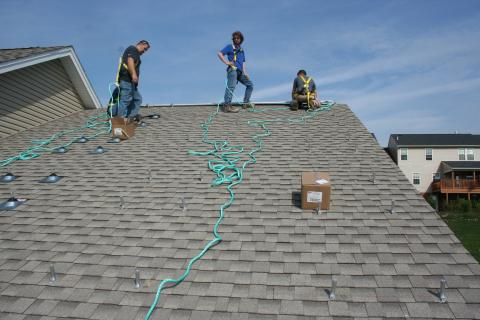 Roofing material and slope
