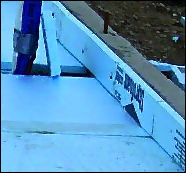 Properly installed rigid insulation