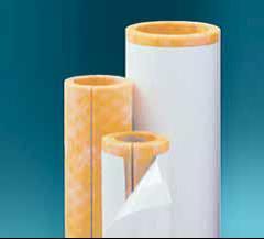 High-density fiberglass pipe insulation comes with a vapor barrier