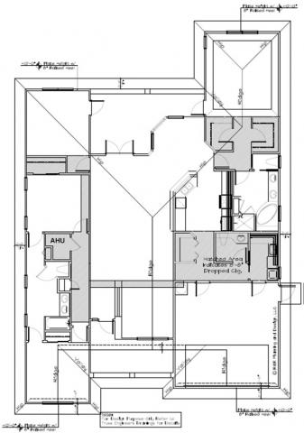 The chase is laid out on the plans (grey highlighted areas) to aid sub-contractors to execute the design