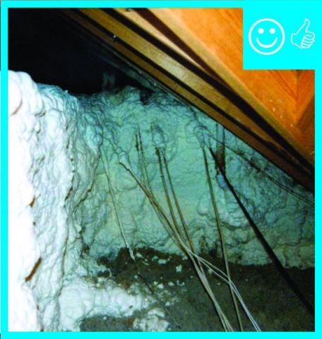 Spray foam insulation used for raised ceiling duct chase