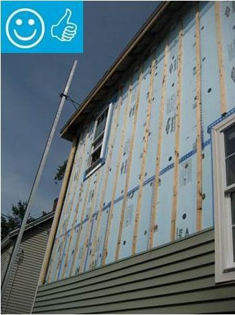 Rigid foam insulation for existing exterior walls for Exterior insulation