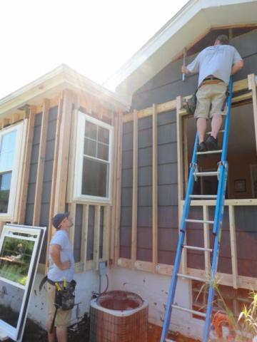 Windows Are Installed In New Framing Preparation For Adding Exterior Spray Foam Insulation