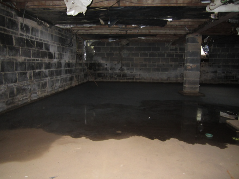 Moisture problems must be dealt with before sealing and insulating a crawlspace