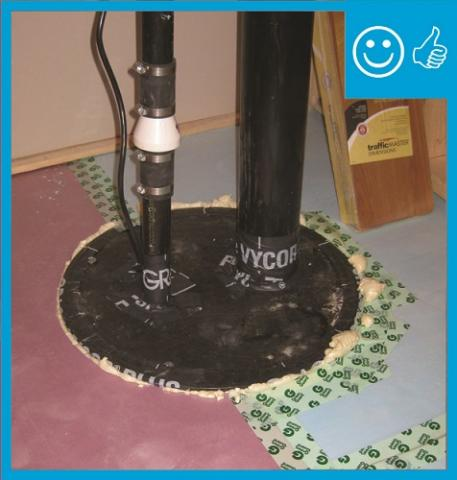 This sump pump is installed correctly