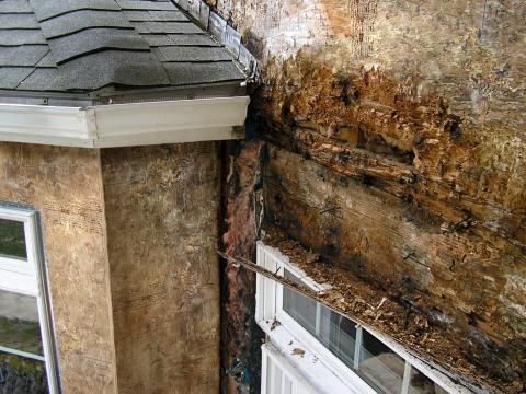Improper flashing can allow rain water into walls, causing significant damage