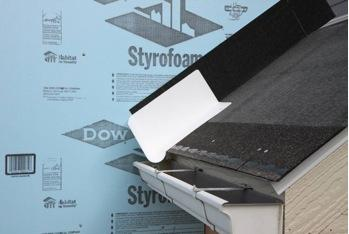 Step and kick out flashing at roof wall intersections for Roof diverter flashing