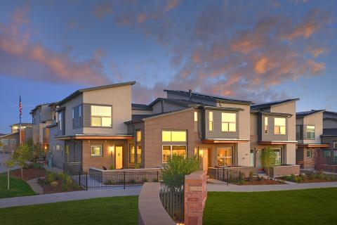 Shed roofs provide more space for PV panels in this multifamily project near Denver,  Colorado.