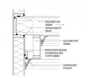 Air Seal At Built Out Soffit Building America Solution