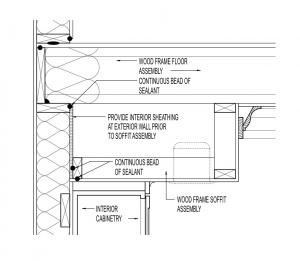 Air Seal At Cabinet Soffit Two Story Building America