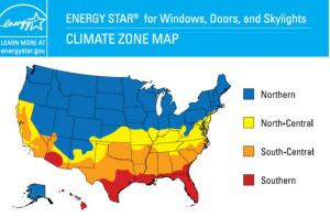 Energy Star Climate Zone Map For Windows Building
