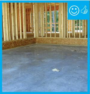 Right – Air barrier is present between garage and floor system