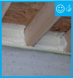 Right – Band is properly insulated and sealed