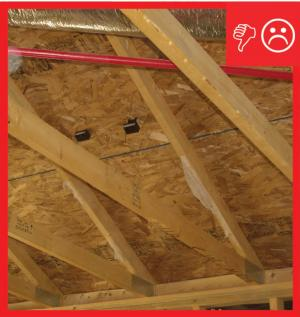 Wrong – Framing will not allow for required insulation depth