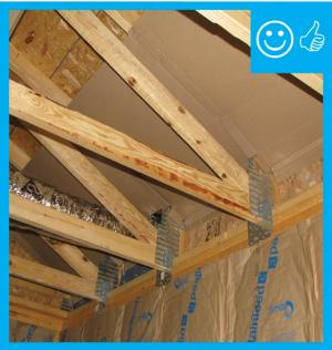 Right – Framing and wind baffle installation will allow for required insulation depth