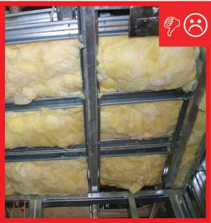 Wrong – Insulation will not be aligned with air barrier