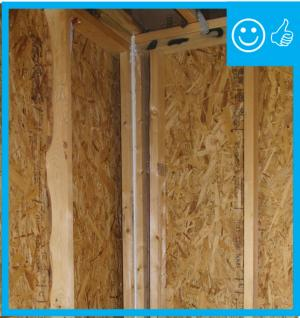 Right – Framing allows corner to be insulated