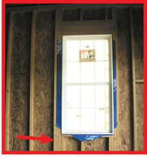 Wrong – Window has additional non-structural king stud