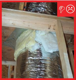 Wrong – Fibrous insulation does not air seal