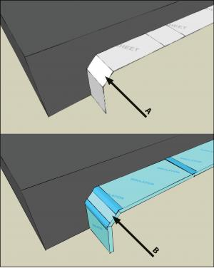 Capillary break beneath all slabs (e.g., slab on grade, basement slab) except crawlspace slabs using either: ≥ 6 mil polyethylene sheeting lapped 6-12 in., or ≥ 1 in. extruded polystyrene insulation with taped joints