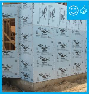 The Rigid Insulation Covers All Exterior Walls And All Seams Are Taped To Provide A Complete