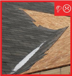 Wrong – There is not a self-sealing bituminous membrane installed at the valley of the roof