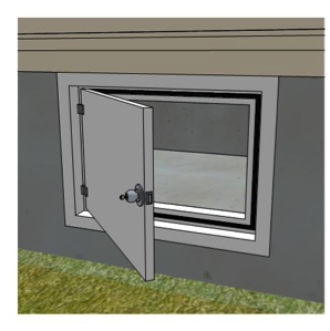 Exterior access door | Building America Solution Center