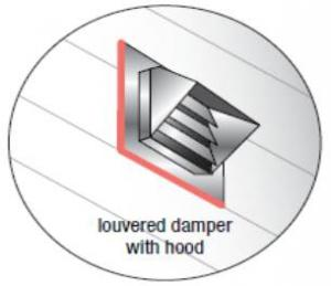 At the outlet of the dryer exhaust duct install a hooded vent with