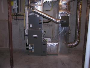Direct-vent condensing gas furnace with fresh air intake