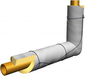 Wrap Batt Insulation Around Pipe Loosely Enough Not To Compress The Insulation And Secure With