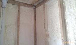 Spray Foam Insulation For Cavities Of Existing Exterior
