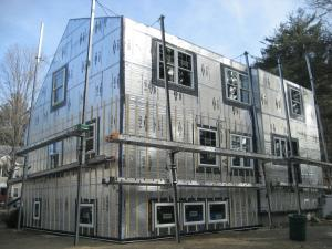 Rigid foam insulation for existing exterior walls for Sheathing house wrap