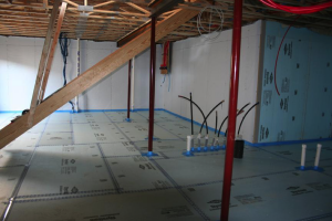 Rigid foam insulation is taped at seams and installed over a drainage pad of aggregate to : rigid foam insulation basement  - Aeropaca.Org
