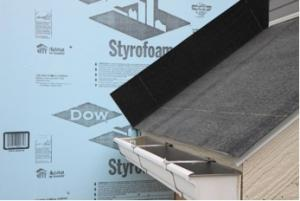 Step 1 apply roof underlayment over roof deck and up the sidewall over the rigid foam - Polystyrene insulation step by step ...