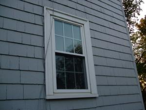 Exterior window replacement detail